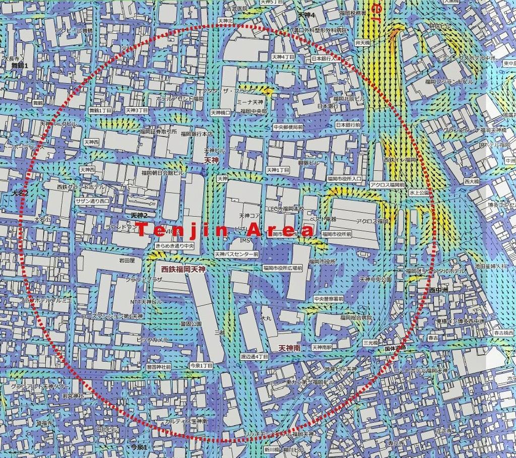 Urban Design with Wind Path tenjin